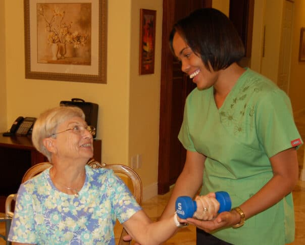 american in home care -- strength exercise to age healthier