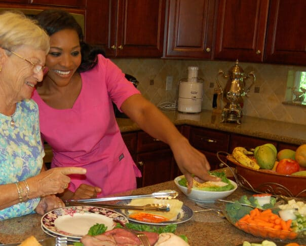 Care provider and healthy eating options
